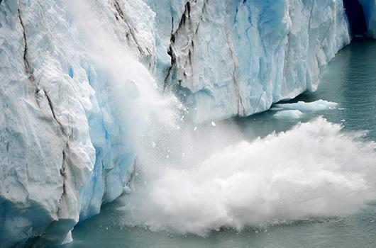 Climate Change: Glacier falling